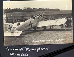 AL-44 1st Aero sq Album Image_000175 (San Diego Air & Space Museum Archives) Tags: france airplane aircraft aviation wwi worldwari worldwarone ww1 greatwar d1 militaryaviation thegreatwar monoplane junkersd1 firstaerosquadron
