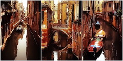 Backdoor Venice (kurtwolf303) Tags: italien venice italy topf25 water buildings reflections dark boats topf50 topf75 wasser italia 500v20f boote venezia venedig gebude dunkel canale huser spiegelungen triptychon kanle 250v10f lovelycity unlimitedphotos