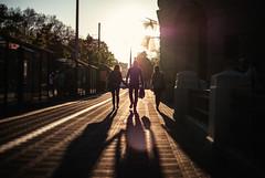 spring cleansing (ewitsoe) Tags: street city sunset urban woman sun man lady 35mm walking evening spring warm long shadows bright tram poland polska sunny pedestrian fridaynight peopel poznan sunight nikond80 chasinglight ewitsoe