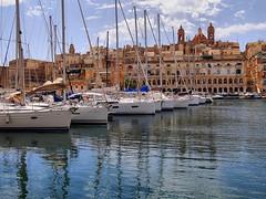 Grand Harbour Marina of Vittoriosa (Birgu) in Malta (jackfre2) Tags: city marina island harbour malta yachts luxury vittoriosa grandharbourmarina oneofthe3historiccities