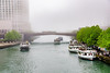 Heavy fog moves into Chicago today (TAC.Photography) Tags: fog chicagoriver tourboats