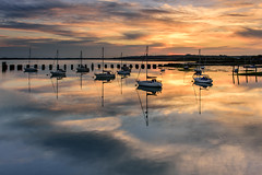 Beautiful Light (Explore 7-5-2016) (Sunset Snapper) Tags: uk sunset water clouds reflections boats still nikon harbour may beautifullight hampshire calm filter lee nd serene yachts grad southcoast tranquil 2016 2470mm langstoneharbour d810 springhasarrived sunsetsnapper