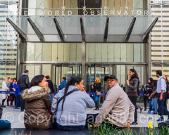 One World Observatory Entrance, World Trade Center, New York City (jag9889) Tags: nyc newyorkcity people usa ny newyork building architecture skyscraper unitedstates outdoor manhattan unitedstatesofamerica worldtradecenter entrance streetscene tourist wtc groundzero lowermanhattan 1776 observationtower 2016 freedomtower 1wtc oneworldtradecenter jag9889 20160507