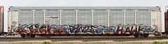 Jigl/Panze/Hawk (quiet-silence) Tags: railroad art train graffiti hawk railcar graff freight ld pw autorack mfk fr8 endtoend e2e syw panze jigl h8u pw100125