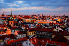 Prague as a miniature (Guerriero Da Luz) Tags: city sunset miniature czech prague oldtown staremesto tiltshift