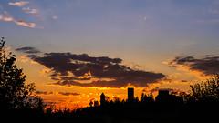 Silhouette sunset (Karsten Gieselmann) Tags: blue light sky orange color nature clouds de bayern deutschland licht spring sonnenuntergang seasons air jahreszeiten natur himmel wolken olympus elements blau farbe luft frhling m43 mft burglengenfeld elemente microfourthirds lumixgvario 14140mmf3556 em5markii kgiesel