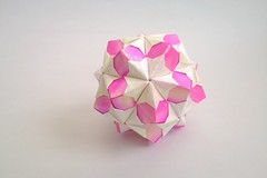 Floral Ball (Charul's Origami) Tags: origami paperfolding modularorigami tomokofuse rectangles12