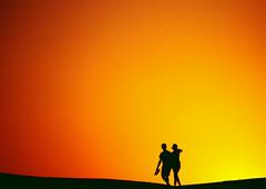 """just friends"" in the sunset... (rasa@1975) Tags: travel sunset summer sky sun art texture yellow outdoors nikon flickr serbia silhouettes romance explore abudhabi nikkor figures artland twop srbija themagichour 365dayproject artristic emiraths"