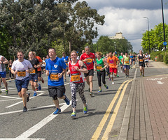 Manchester Run (10) (alsimages1 - Thank you for 860.000 PAGE VIEWS) Tags: old sun rain manchester fun shower blind tunnel run professional runners trafford runner amateur lowry participants the 2016