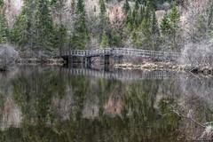 160518-17 Lac St-Charles (clamato39) Tags: bridge canada reflection nature water eau reflet qubec pont provincedequbec maraisdunord lacstcharles