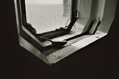(The New Motive Power) Tags: lomo lomography lca analog blackandwhite lofi spitbank fort palmerston folly historic defence military portsmouth solent sea monument derelict massive granite iron strong fortress victorian disused structure spit sand deserted empty silence window solid thick concrete composite brush glow horizon dark shadow