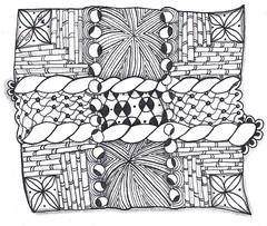 Bamboo Box (BellatrixTangles) Tags: pattern drawing line tangle zentangle