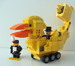 Penguin + Duck (The Solitary Dark) Tags: penguins lego batman duckmobile