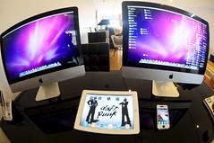 iMacs, iPad, iPhone (Melissa C. Toledo) Tags: desktop white fish black eye apple silver photography mac nikon imac pad melissa fisheye toledo 105 nikkor tablet tablets iphone 105mm ipad tumblr