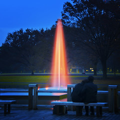 FLAME OF LOVE (ajpscs) Tags: park nightphotography winter fountain japan japanese tokyo nikon december streetphotography lovers dating  nippon   aftertherain yoyogipark fuyu yoyogikoen d300 flameoflove  ajpscs