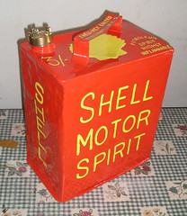 shell motor spirit can 1 (nuttyminer1) Tags: old vintage spirit shell can restored motor petrol
