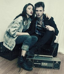 Welcome to the 1990s (Katherine Angelique Photography) Tags: music beautiful box grunge inspired boom vogue denim 1980s