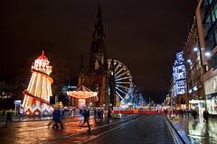 Princes Street (MacDor Photography) Tags: wheel scotland edinburgh princesstreet carousel merrygoround scr scottmonument germanmarket winterfair