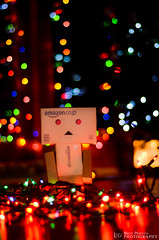 Deck the Halls with Danbo (Brett Perucco) Tags: christmas lights nikon bokeh danbo d7000 dpsbokeh
