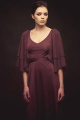 (Marku H.) Tags: portrait girl beautiful beauty fashion studio model makeup canon5d kiev gaze reddress studiolighting mua blackeyemakeup
