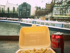 Camden (daizzz11) Tags: food river landscape camden chips cocacola