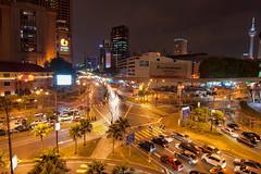 The Triangle (Amirul Arif) Tags: digital landscape nikon cityscape nightscape tokina malaysia multiple kuala manual lumpur bukit bintang 1224 blending exposures d60 lightrails lowyat