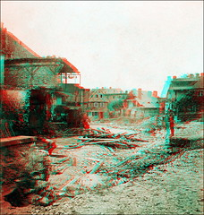 The Big Flood of 1897 Pt.I (anaglyph) (ookami_dou) Tags: vintage flooding flood poland anaglyph disaster stereoview devastation calamity karpacz krkonoe riesengebirge kowary lomnitz anschtz krummhbel schmiedeberg eglitz