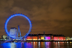 Art Attack (simon.anderson) Tags: longexposure london wheel lights cityscape colours londoneye ferriswheel nightshots shard riverthames highiso iso1000