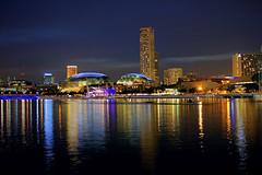 Marina Bay @Night (jefftan.geo) Tags: reflection night singapore cityscape esplanade theatres marinabay