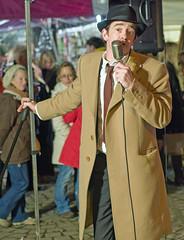 Totnes Street singer (tramsteer) Tags: street uk longexposure england people night person lowlight nikon nocturnal nighttime devon activity nocturne westcountry totnes nocturn southhams southdevon southwestengland tramsteer totneschristmasmarket michaelcampari totnespeople