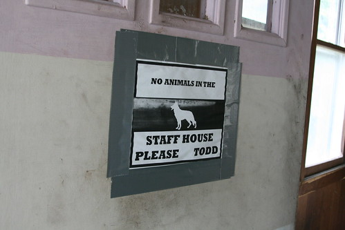 No animals in the staff house, please Todd