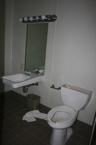 Handicap accessible guest room bathroom