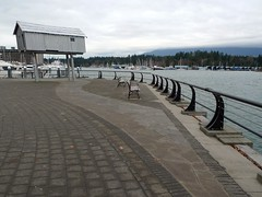 Light Shed at Coal Harbour (Ruth and Dave) Tags: sculpture vancouver shapes seawall paving railing benches coalharbour lightshed lizmagor