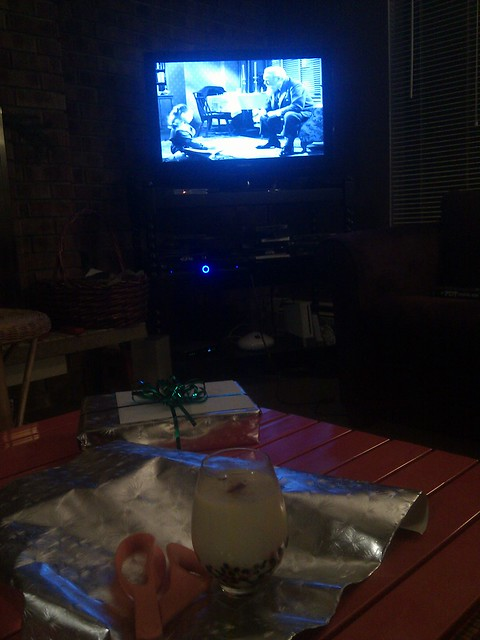 MIRACLE ON 34TH STREET, eggnog, and the last of the wrapping - now it feels like Christmas Eve: