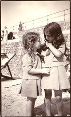 Best of friends (undated) (pellethepoet) Tags: girls friends summer beach kids sisters children snapshot siblings photograph