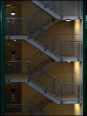 5 - 6 - 7 (VillaRhapsody) Tags: stairs floors lights airport number carpark düsseldorf challengeyouwinner