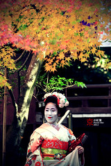 Memoirs of a Geisha (fravenang) Tags: autumn fall japan temple kyoto      kannonji imakumano
