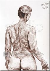 study 258/260 figure (creating more portraits...) Tags: sepia drawing study crayon studie zeichnung tekening krijt noorden kreide reell realistisch realisme wirklichkeit werkelijkheid herkenbaar erkennbar