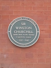 Photo of Winston Churchill green plaque