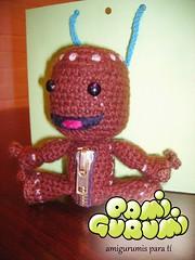 sackboy1 (pamigurumi) Tags: handmade crochet hilo amigurumi monos tejidos hechoamano amigurumis meecos sackboy
