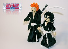 Ichigo and Rukia (Siercon and Coral) Tags: anime lego bleach rukia ichigo moc shinigami ichiruki