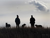 """. . . appearing under his hand . . ."" (misst.shs) Tags: winter dogs silhouette sisters nikon hilltop cliche hcs northidaho birthdayhike clichesaturday ballcreekranchconservatory handincloud"