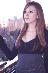 Petali di cilliegio. (Ivano Cardenio) Tags: pink winter portrait woman rome girl photoshop outside donna eyes expression petali ritratto lazio ragazza rm canon50d canonefs1785 cilliegio delicatezzza
