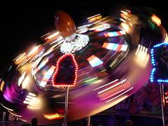 Fun Riding at the Fair (Rosemarie.s.w) Tags: lights nightshot fast motionblur funfair