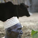 Village man and his prized cow in Fakara, Niger