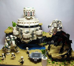 Terraforming Disclaimer (Wyrk Wyze) Tags: life lego space alien hard suit base mecha mech terraform