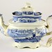 109. 19th Century Blue Transfer Teapot