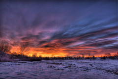 Thank Goodness (Thad Roan - Bridgepix) Tags: snow sunrise landscape colorado denver broncos littleton 201201