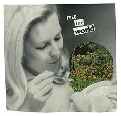 Feed The World (KieranSperring) Tags: world food nature collage female vintage handmade earth retro feed