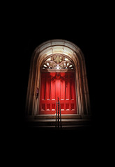 #135 (brookshaw) Tags: door red church architecture realtor greenwichvillage unfiltered iphone4s